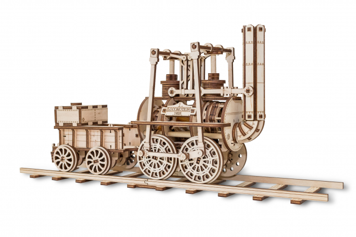 Puzzle 3D Mecanic, Locomotiva cu abur 2
