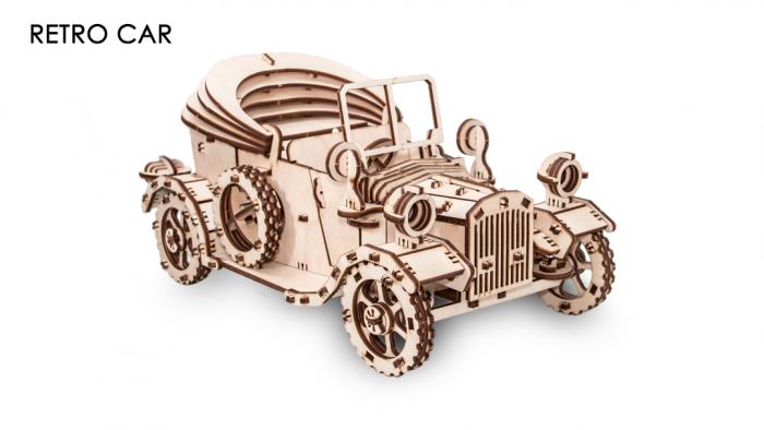 Puzzle 3D Mecanic, Masina Retro [0]