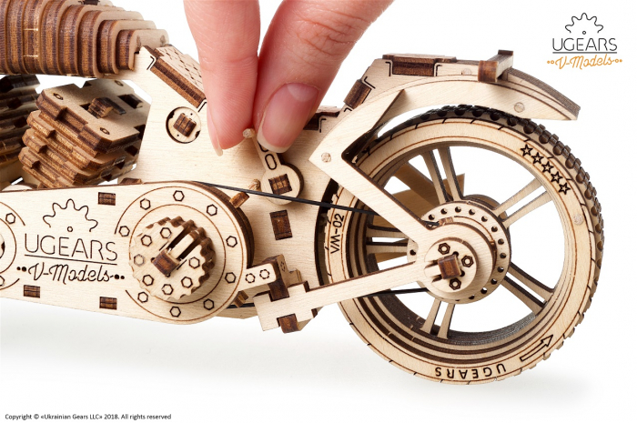 Puzzle 3D Mecanic, Motocicleta VM-02, 189 piese [1]