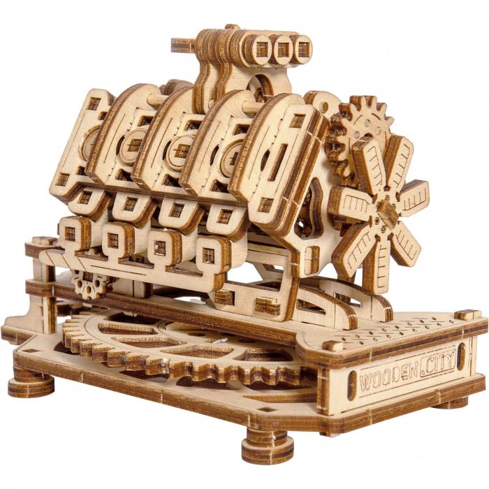 Puzzle 3D Mecanic, Motor V8 [0]