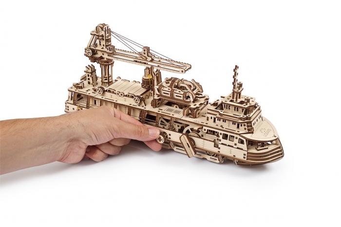 Puzzle 3D Mecanic, Nava de cercetare, 575 piese [7]