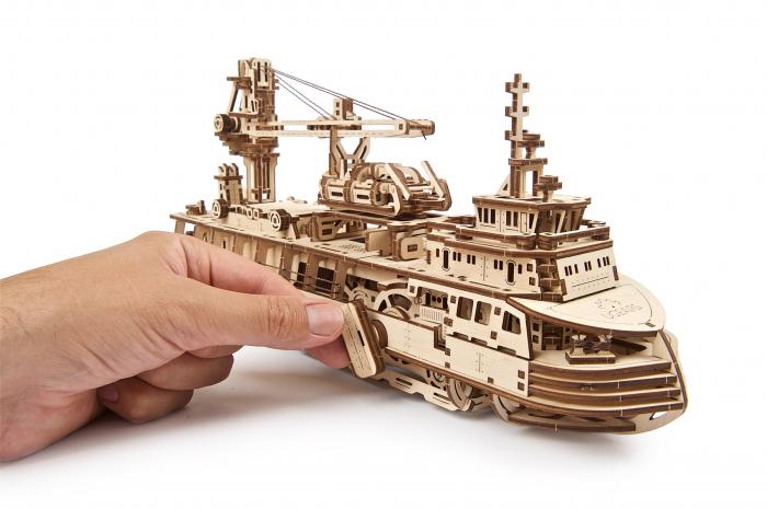 Puzzle 3D Mecanic, Nava de cercetare, 575 piese [15]