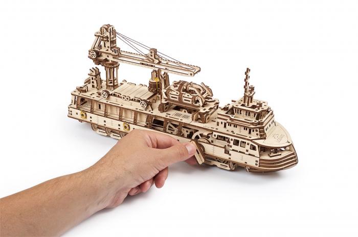 Puzzle 3D Mecanic, Nava de cercetare, 575 piese [8]