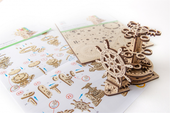 Puzzle 3D Mecanic, Organizator pentru birou, 51 piese [7]