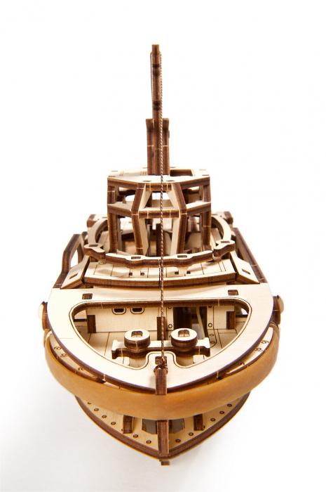 Puzzle 3D Mecanic, Remorcher, 169 piese [1]