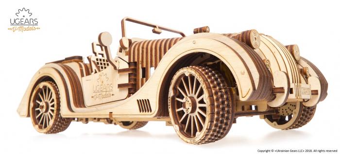 Puzzle 3D Mecanic, Roadster VM-01, 437 piese [3]