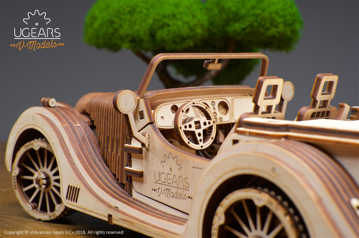 Puzzle 3D Mecanic, Roadster VM-01, 437 piese [9]