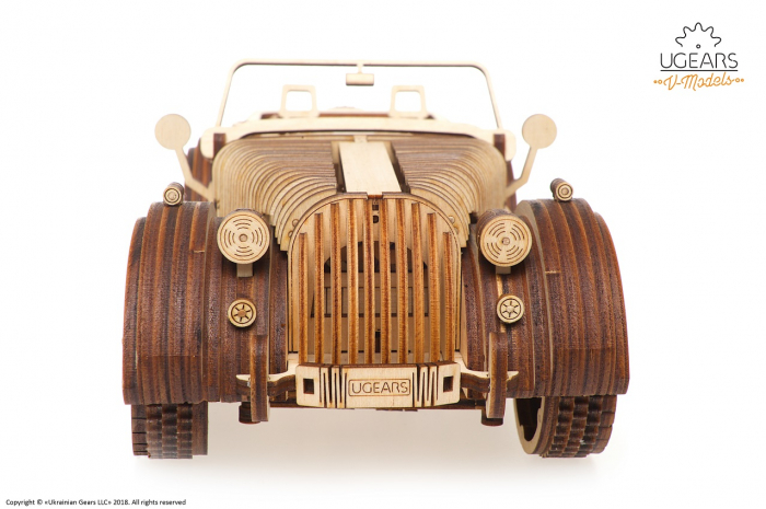 Puzzle 3D Mecanic, Roadster VM-01, 437 piese [4]