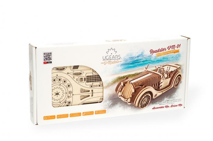 Puzzle 3D Mecanic, Roadster VM-01, 437 piese [10]