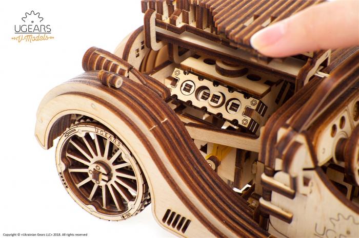 Puzzle 3D Mecanic, Roadster VM-01, 437 piese [7]