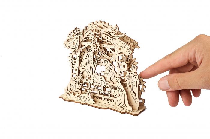 Puzzle 3D Mecanic, Scena Nasterii Domnului, 59 piese [6]