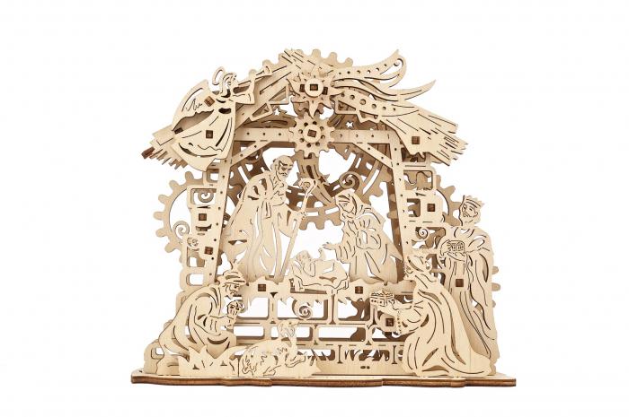 Puzzle 3D Mecanic, Scena Nasterii Domnului, 59 piese [0]