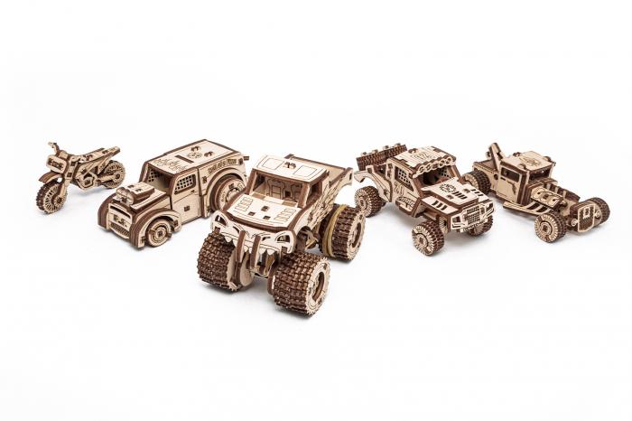 Puzzle 3D Mecanic, Set 5 Vehicule Mecanice [0]