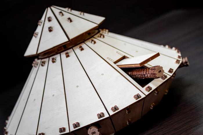 Puzzle 3D Mecanic, Tancul lui Da Vinci [4]