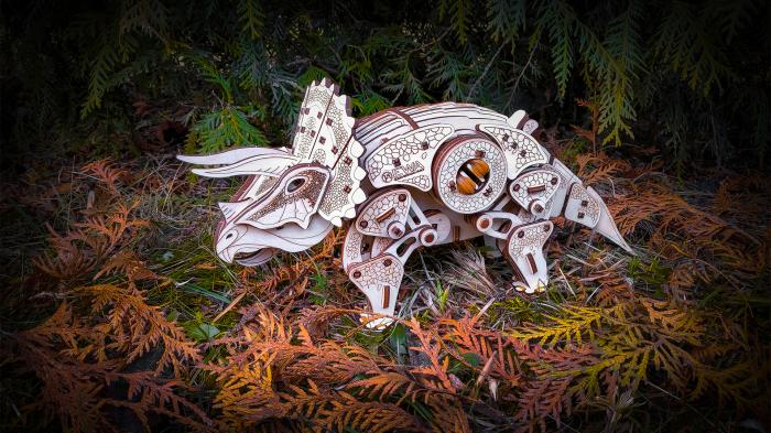 Puzzle 3D Mecanic, Triceraptor [5]