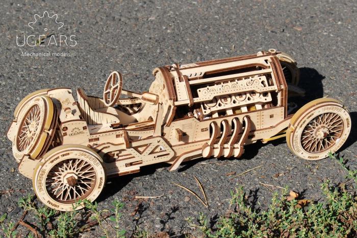Puzzle 3D Mecanic, U-9 Grand prix car, 348 piese [8]