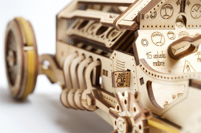 Puzzle 3D Mecanic, U-9 Grand prix car, 348 piese [4]