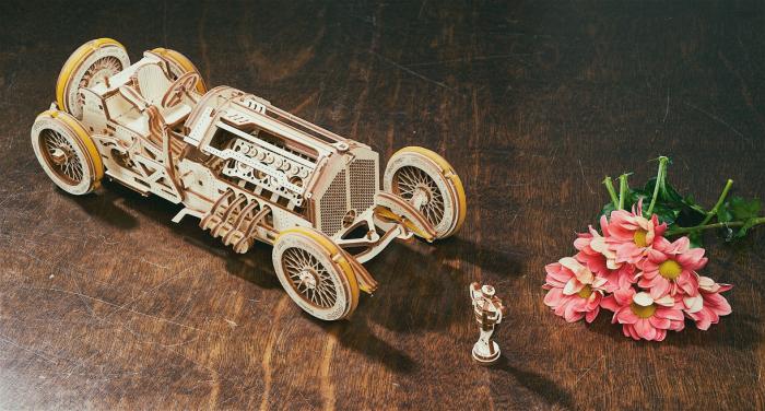 Puzzle 3D Mecanic, U-9 Grand prix car, 348 piese [9]