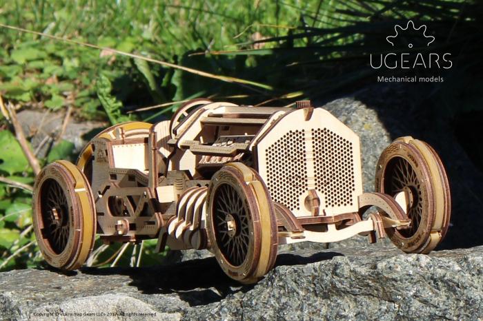 Puzzle 3D Mecanic, U-9 Grand prix car, 348 piese [6]