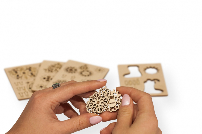 Puzzle 3D Mecanic, U-Fidget Gearsmas, 13-19 piese [3]