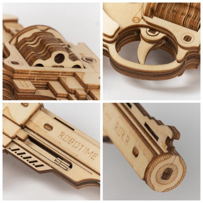 Puzzle 3D, Pistol Corsac M60, Lemn 5