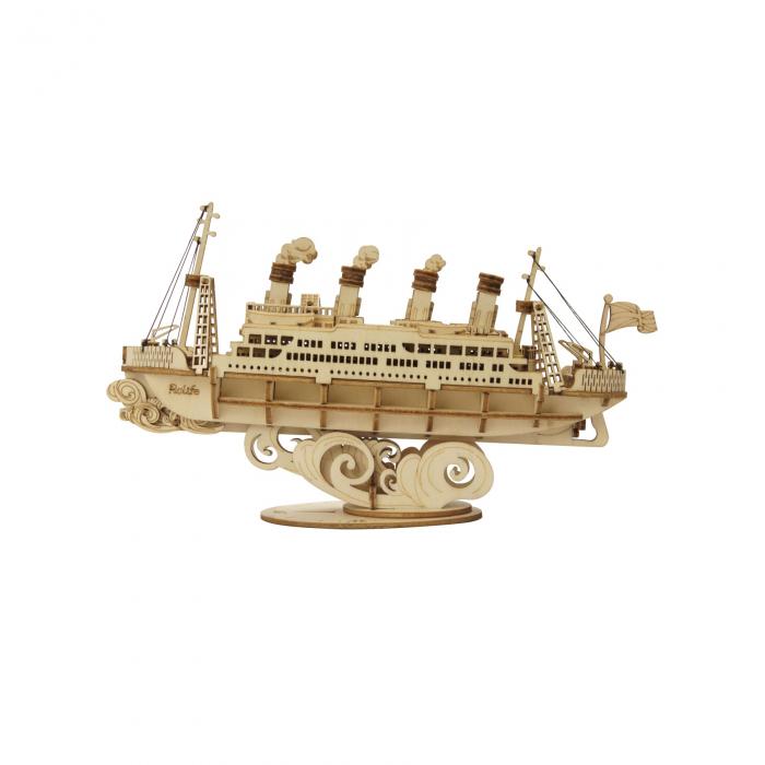 Puzzle 3D Cruise Ship, Lemn, 145 piese 0
