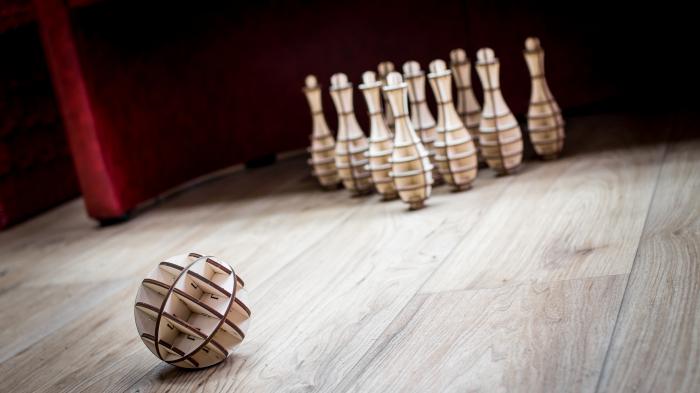 Puzzle 3D, Set mini bowling 4