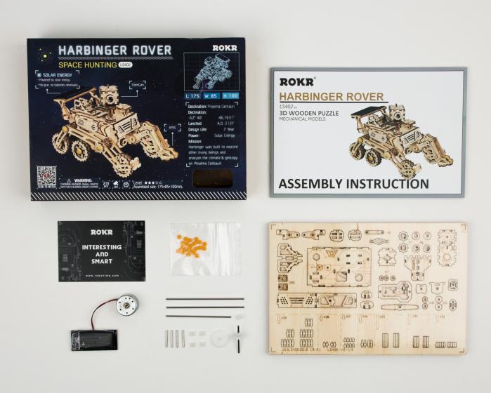 Puzzle spatial, cu baterie solara, Harbinger Rover [2]
