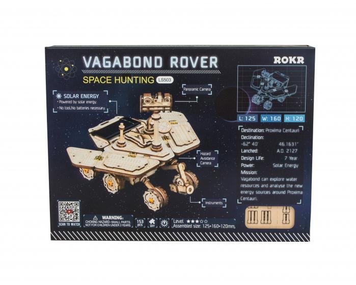 Puzzle 3D spatial, cu baterie solara, Vagabond Rover 1