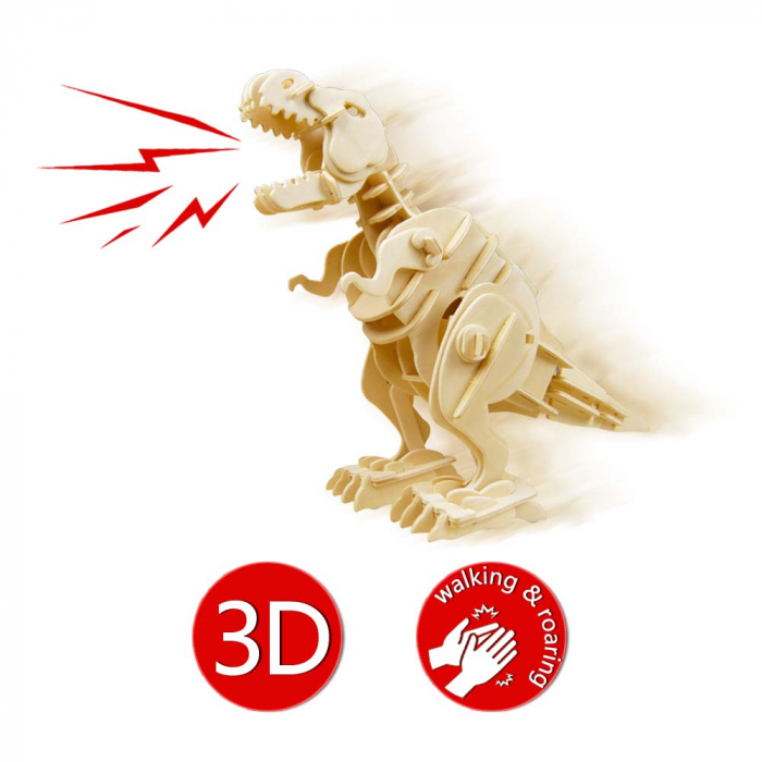 Puzzle 3D deplasabil  T-Rex 6
