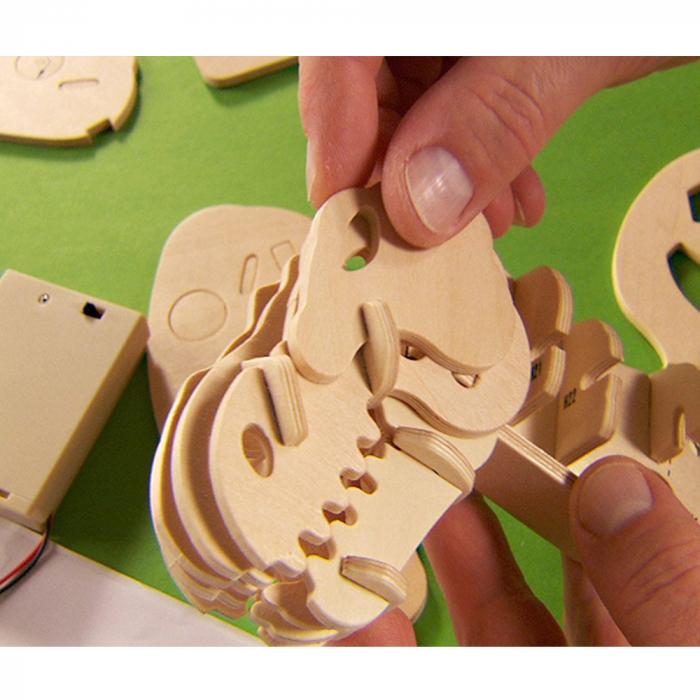 Puzzle 3D deplasabil  T-Rex 7