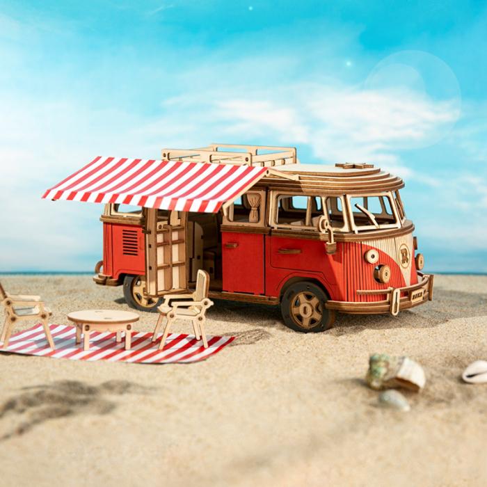 Puzzle 3D Camper Van, Lemn, 242 piese 2
