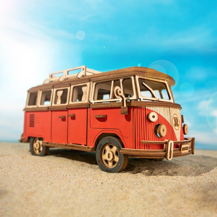 Puzzle 3D Camper Van, Lemn, 242 piese 1