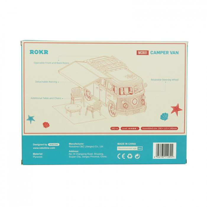 Puzzle 3D Camper Van, Lemn, 242 piese 4