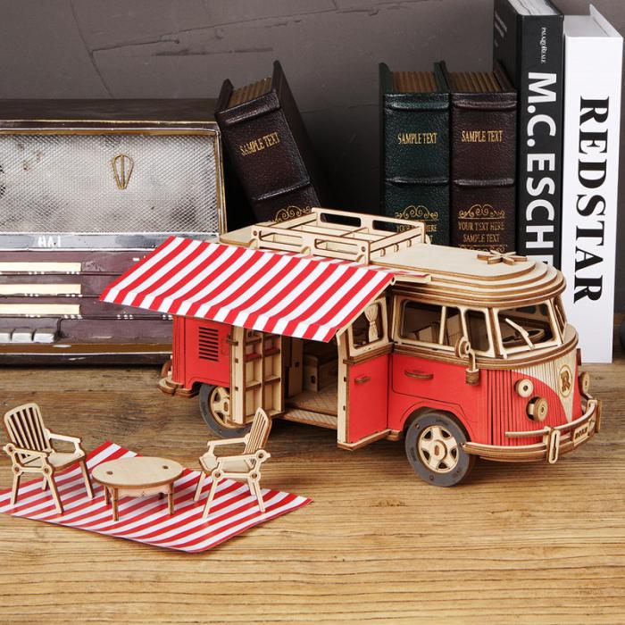 Puzzle 3D Camper Van, Lemn, 242 piese 3
