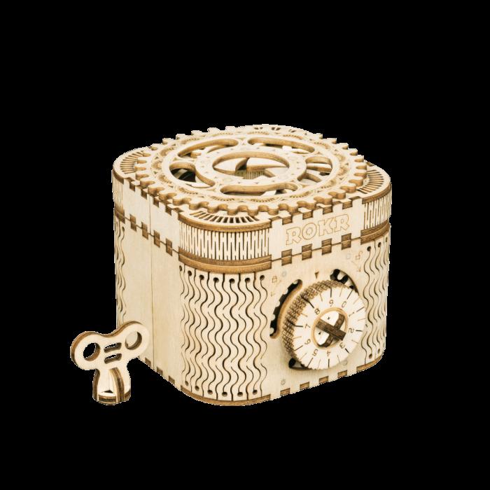 Puzzle 3D Treasure Box, Lemn, 123 piese [0]