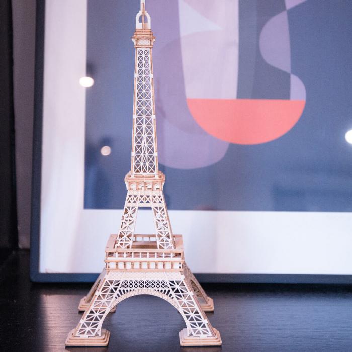 Puzzle 3D Turnul Eiffel, Lemn, 122 piese 2