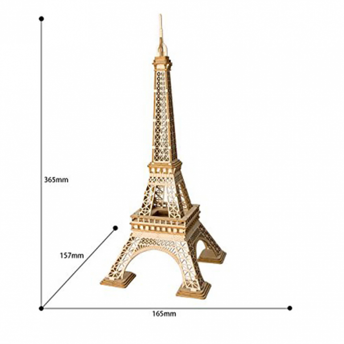 Puzzle 3D Turnul Eiffel, Lemn, 122 piese 4