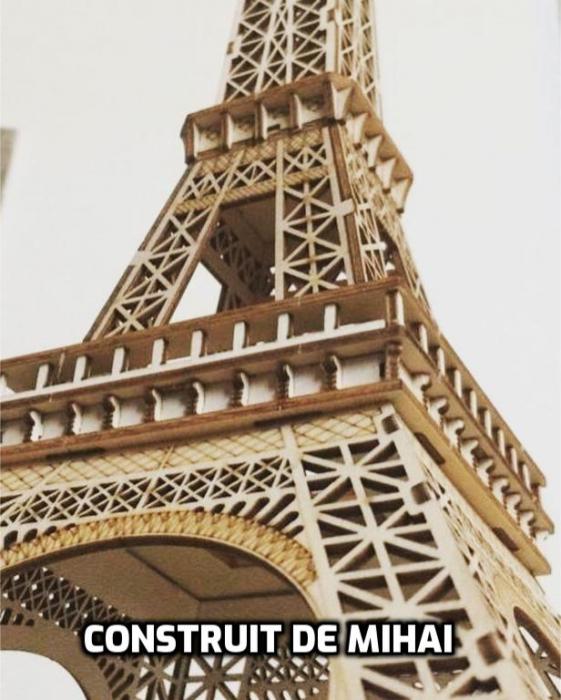 Puzzle 3D Turnul Eiffel, Lemn, 122 piese [7]