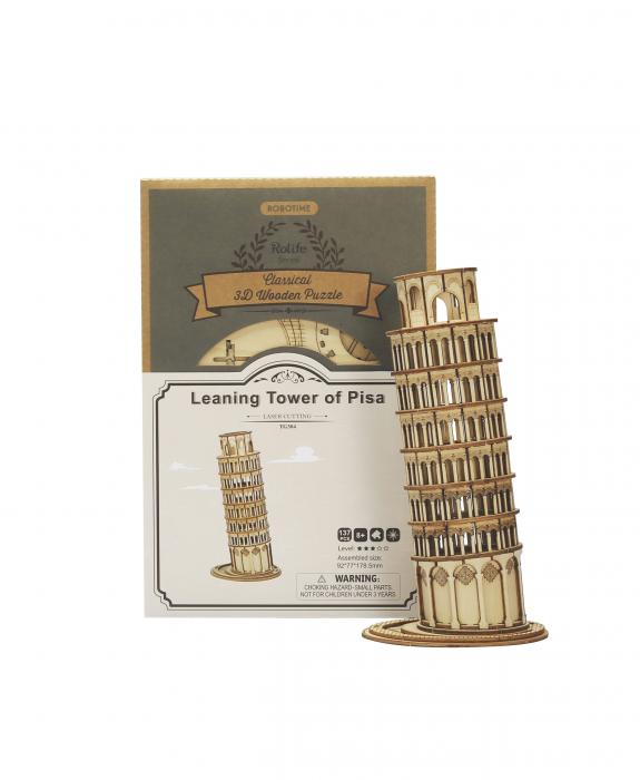 Puzzle 3D Turnul din Pisa, Lemn, 137 piese [2]
