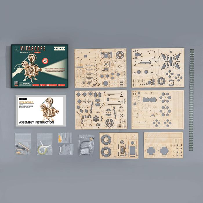 Puzzle 3D Vitascope, Lemn, 183 piese 4