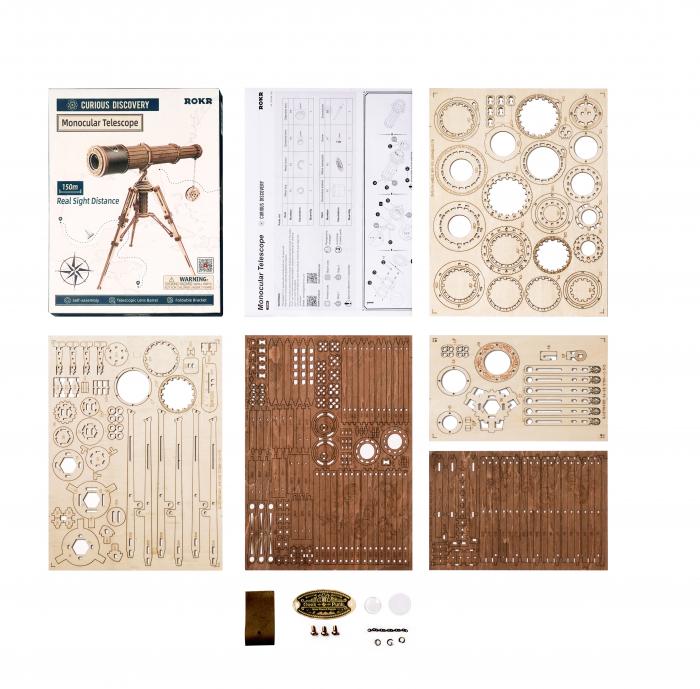Puzzle mecanic 3D, Telescop monocular, 314 piese [7]