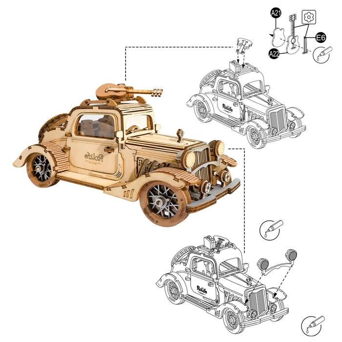Puzzle 3D, masina retro, 164 piese [3]