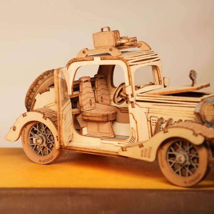 Puzzle 3D, masina retro, 164 piese [4]