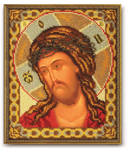 Set broderie cu margele cusute, Iisus, 20x24 cm [0]