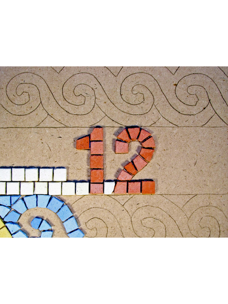 Numarul casei, mozaic bizantin [1]