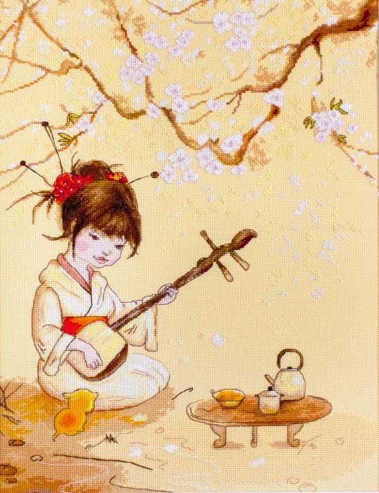 Set goblen cross-stich, Ceremonia de ceai [0]