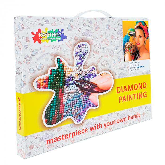 Goblen cu Diamante, cu sasiu, Culori tropicale, 40x50 cm [4]