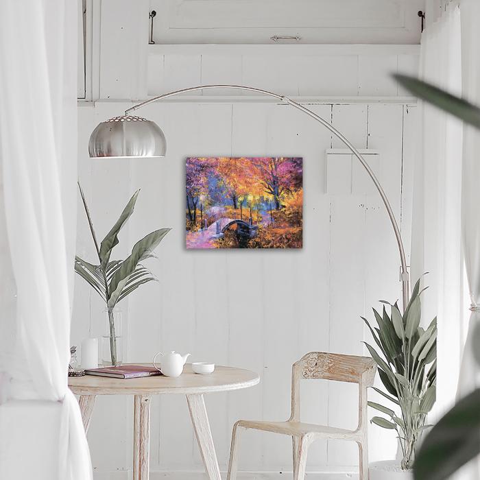 Goblen cu Diamante, cu sasiu, Culorile toamnei, 40x50 cm 2
