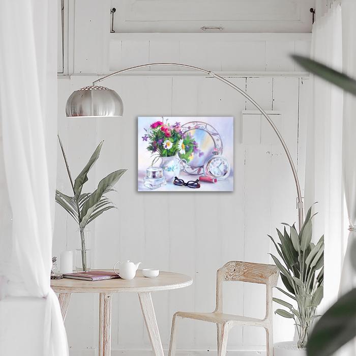 Goblen cu Diamante, cu sasiu, Dispozitie florala, 40x50 cm [3]